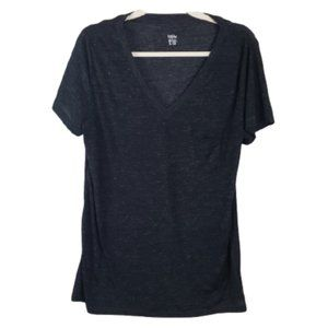 Mossimo Black Pocket Short Sleeve Tee T Shirt L